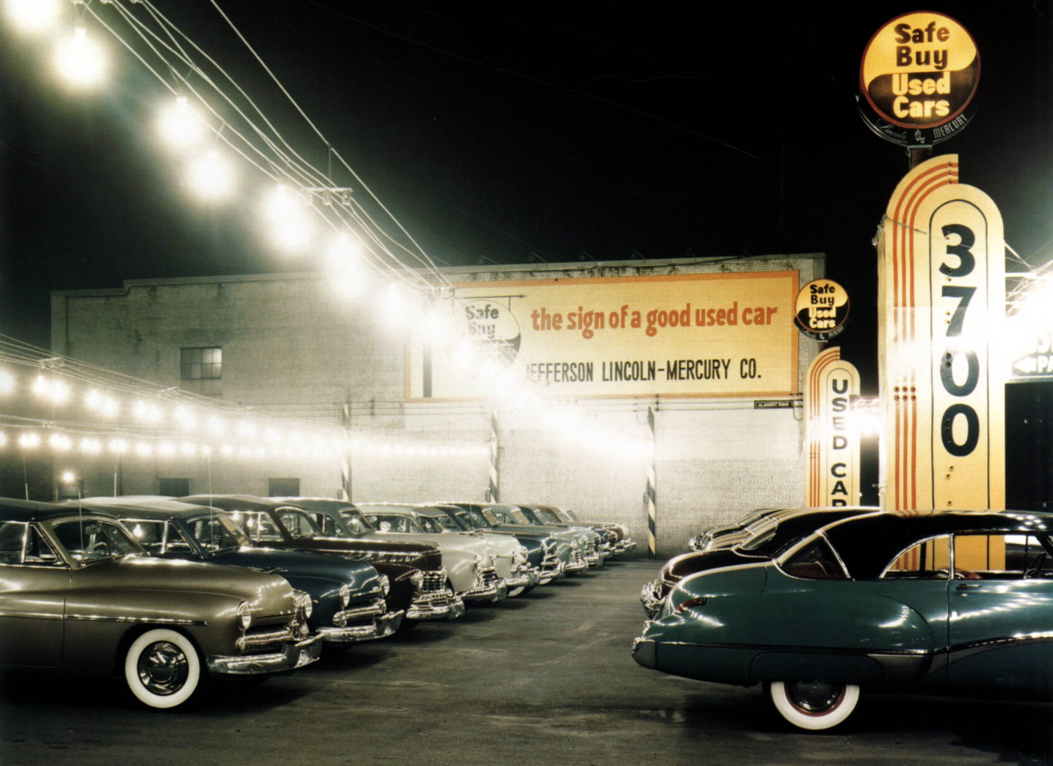 1950\'s car lot. Grosse Pointe Michigan.(3551x2583) | Vintage ...
