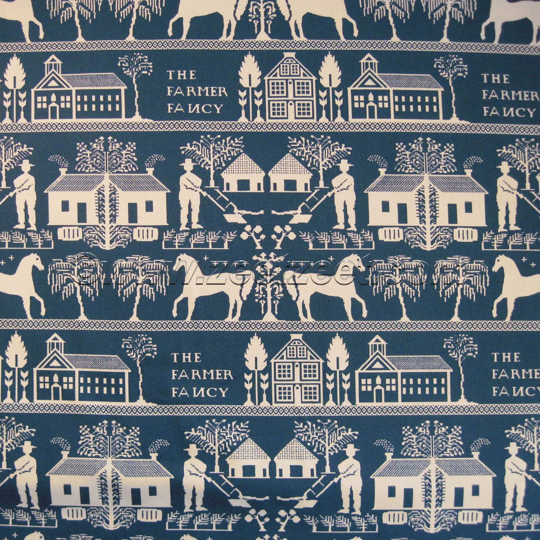 Sale COVERLET Fabric INDIGO BLUE Cotton Printed By Zeetzeet