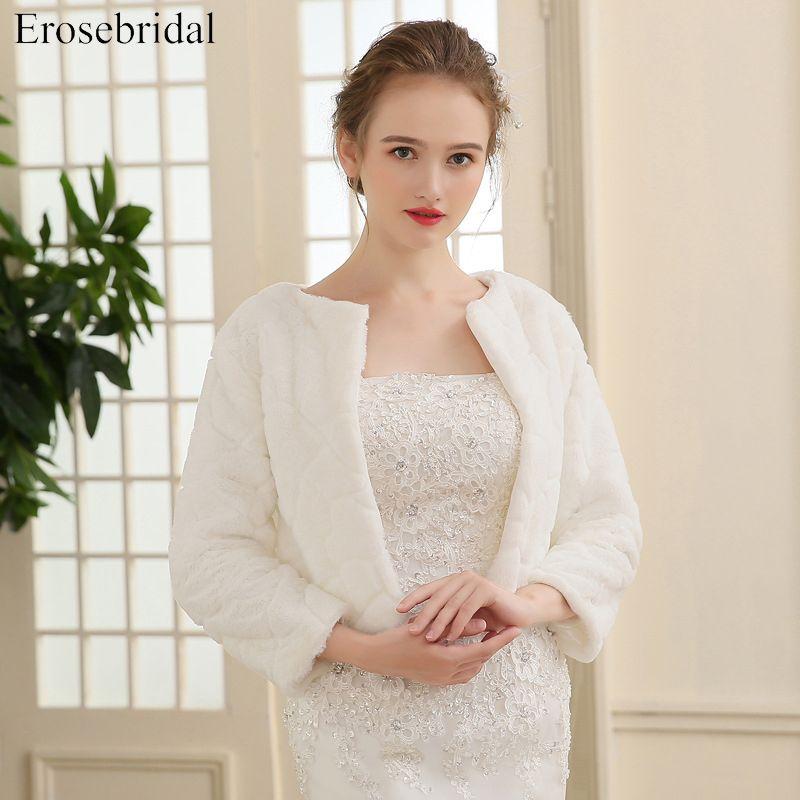 2018 New Arrival Faux Fur Jacket Wrap Shrug Bolero Coat Wraps Shawl Cape Bridal Wedding Shawl Bridal Accessories In S Bridal Shawl Wedding Shawl Bolero Wedding