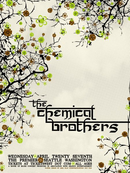 Concert Poster - The Chemical Brothers