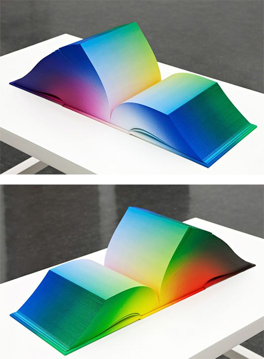 RGB Colorspace Atlas by Tauba Auerbach. The book displays the full ...