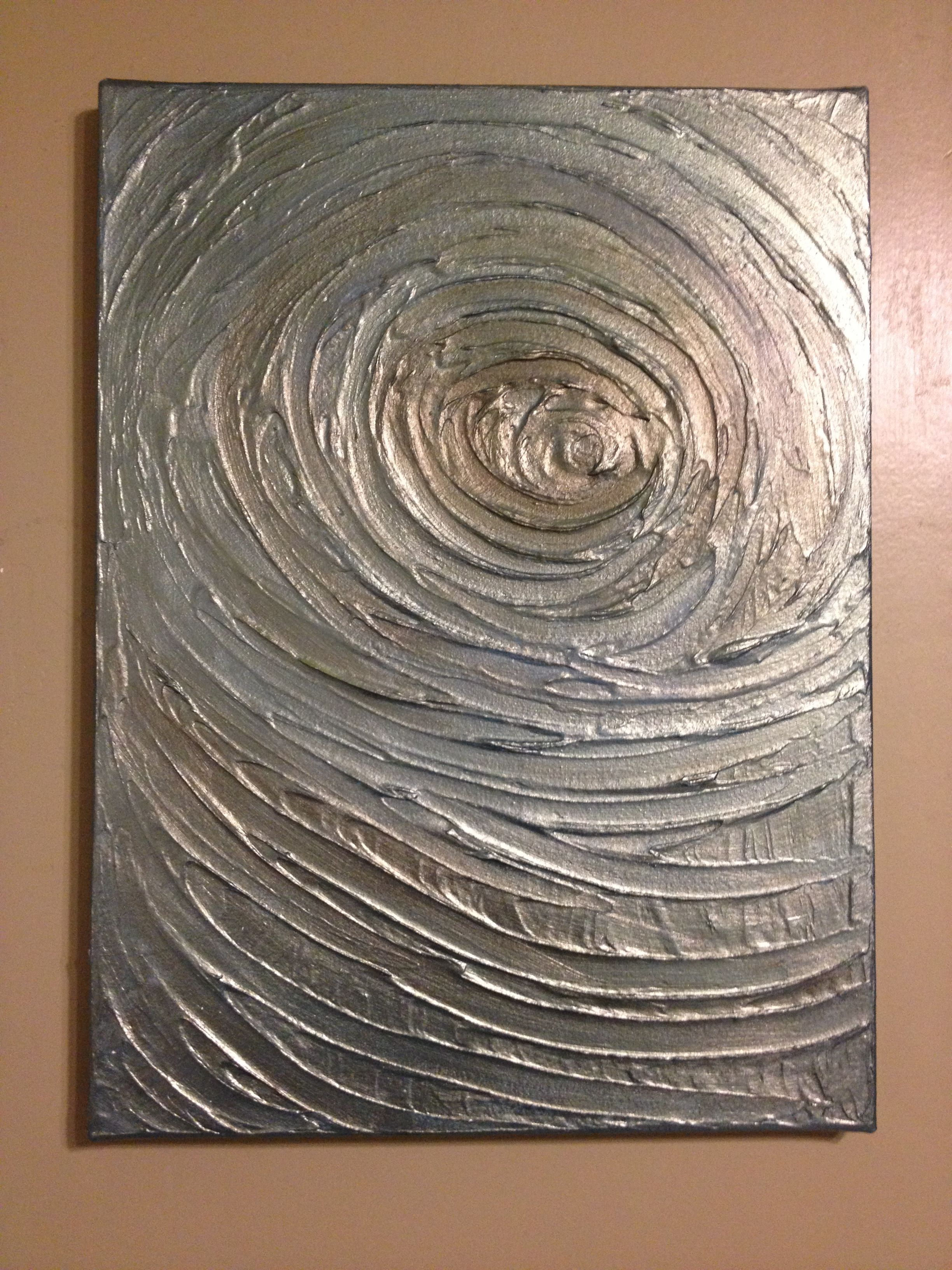 Swirl And A Little Modeling Paste Texture Art Art Painting Art Techniques