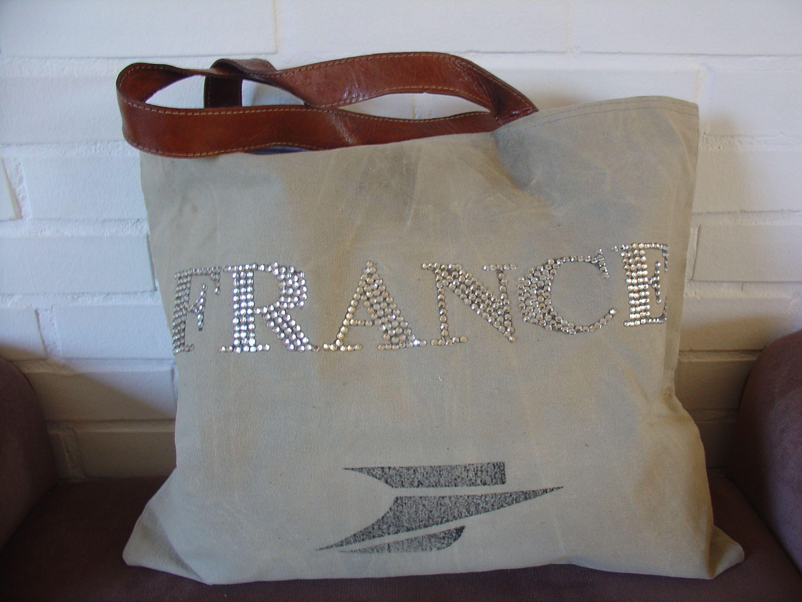 Cuir Anses Cabas De Accessoires Logo Mode France Sac La Poste q7TWcEgE5