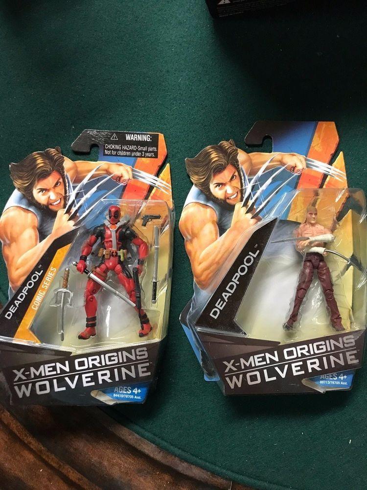 Hasbro X Men Origins Wolverine Deadpool Toy Figures Mint Nib Unopened Sealed Deadpool Toys Toy Figures Wolverine