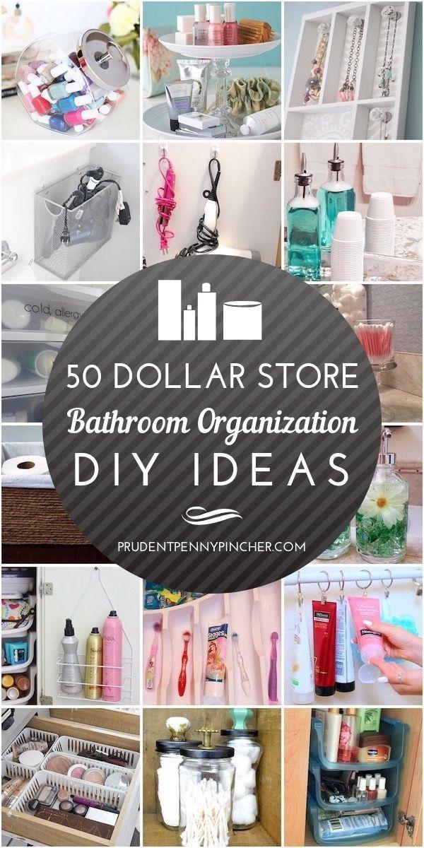 Photo of 50 Dollar Store Bathroom Organization Ideas