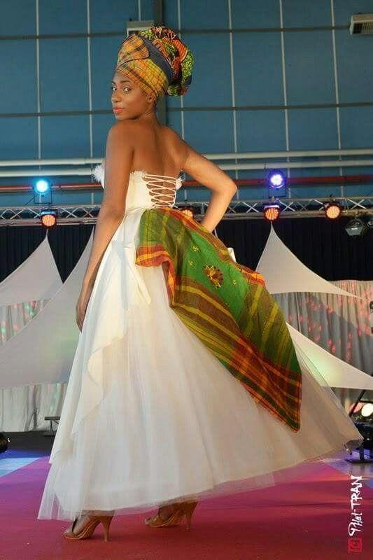 robe de mariée creole Estelle Coezy mariee antillaise