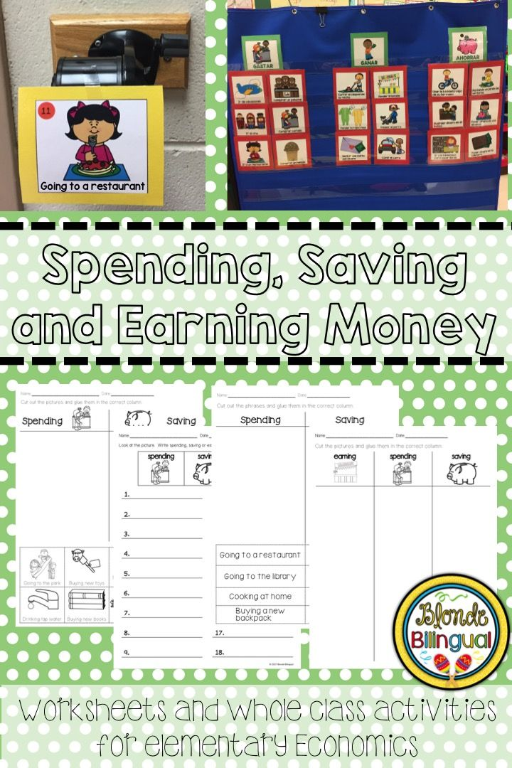 Spending Saving And Earning Money Blonde Bilingual Resources