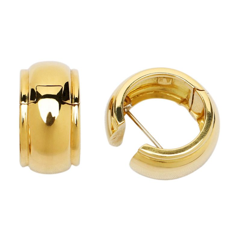 Tiffany Co Gold Hoop Earrings From A Unique Collection Of Vintage