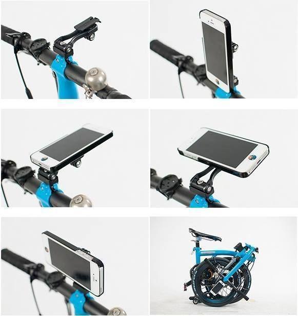 Brompton Bicycles Gadget Phone Holder Folding bike Cellphone Mobile Mount Trigo