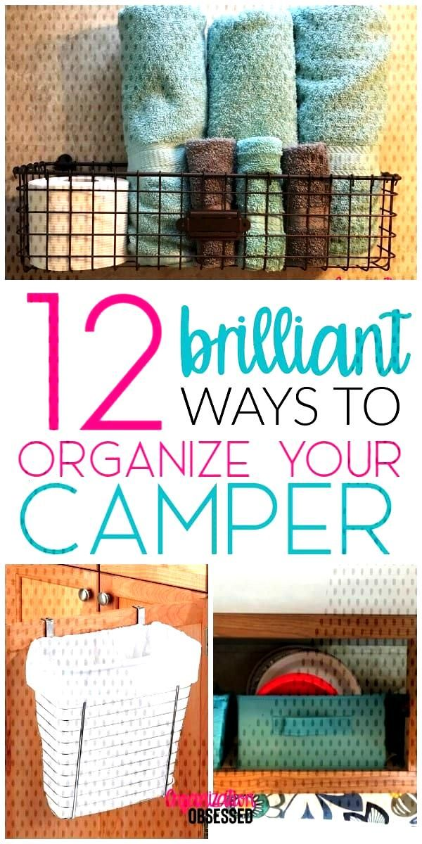 12 Brilliant Ways To Organize Your Camper or RV - Organization Obsesssed