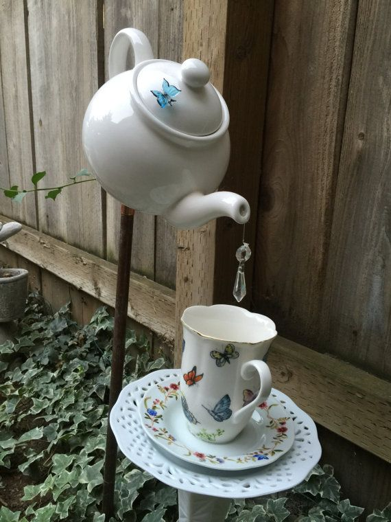projects idea unique tea cups. Teapot and Teacup Garden Decor by FancysGarden on Etsy 25  DIY Recycling Ideas to Feed Your Creativity Part 2