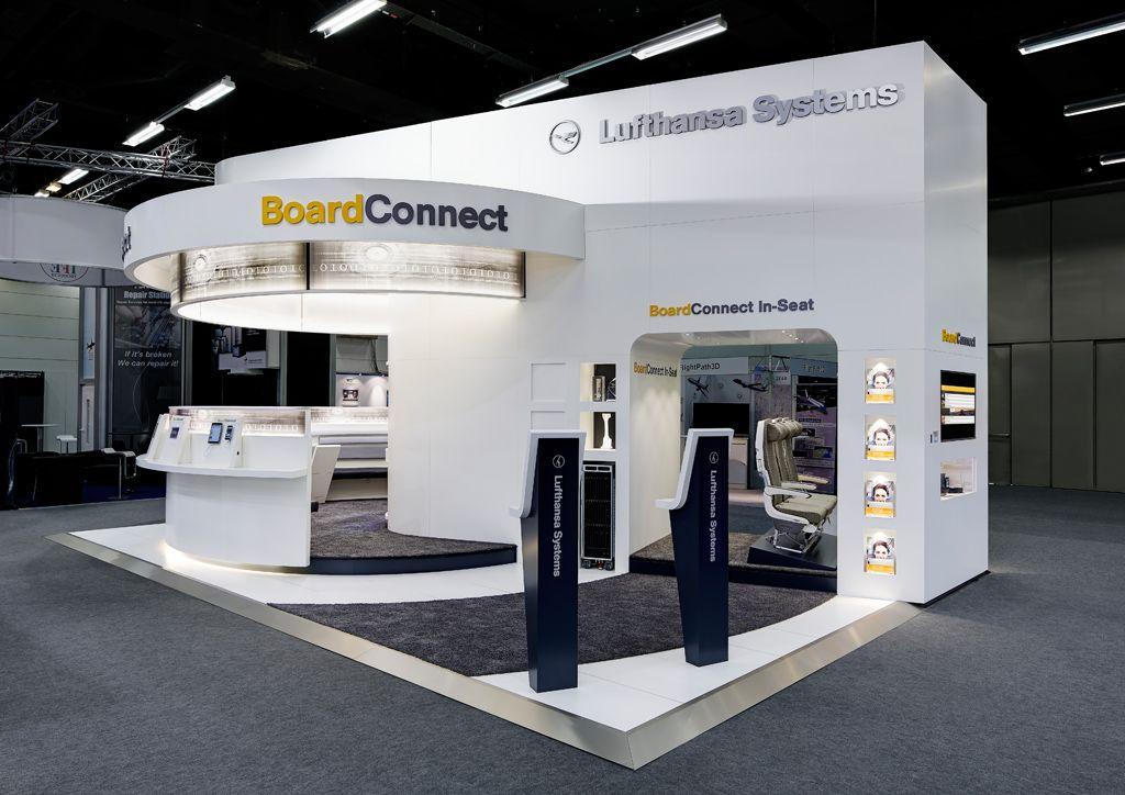 International Exhibition Stand Design : Lufthansa systems international exhibition stand m²