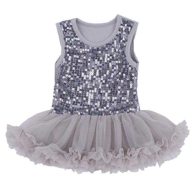 97466fdb49e Gray Sequin Baby Girl Lace Romper Dress Fantasias Infantil Macacao Bebe Jumpsuit  Summer New Born Baby Clothes Infant-Clothing