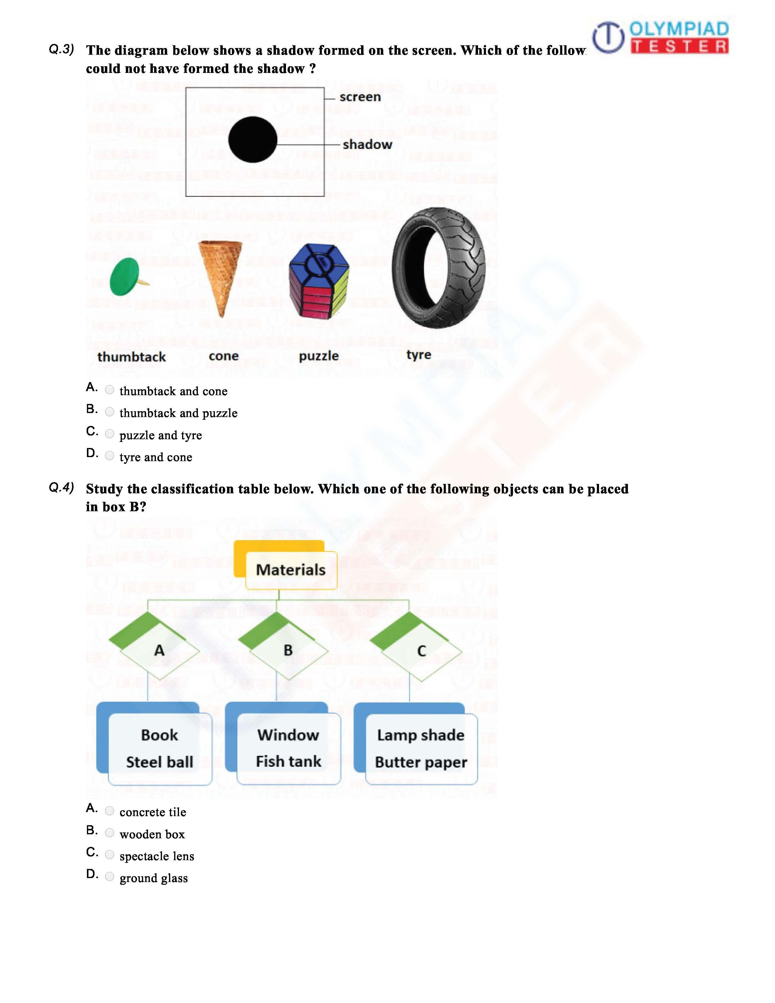 medium resolution of CBSE Class 6 Science Sample paper on Light   2nd grade reading worksheets