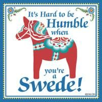 Swedish Souvenirs Magnet Tile (Humble Swede)