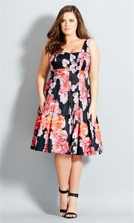 Plus Size Spanish Rose Dress Plus Size Outfits Plus Size Fashion For Women Plus Size Fashion