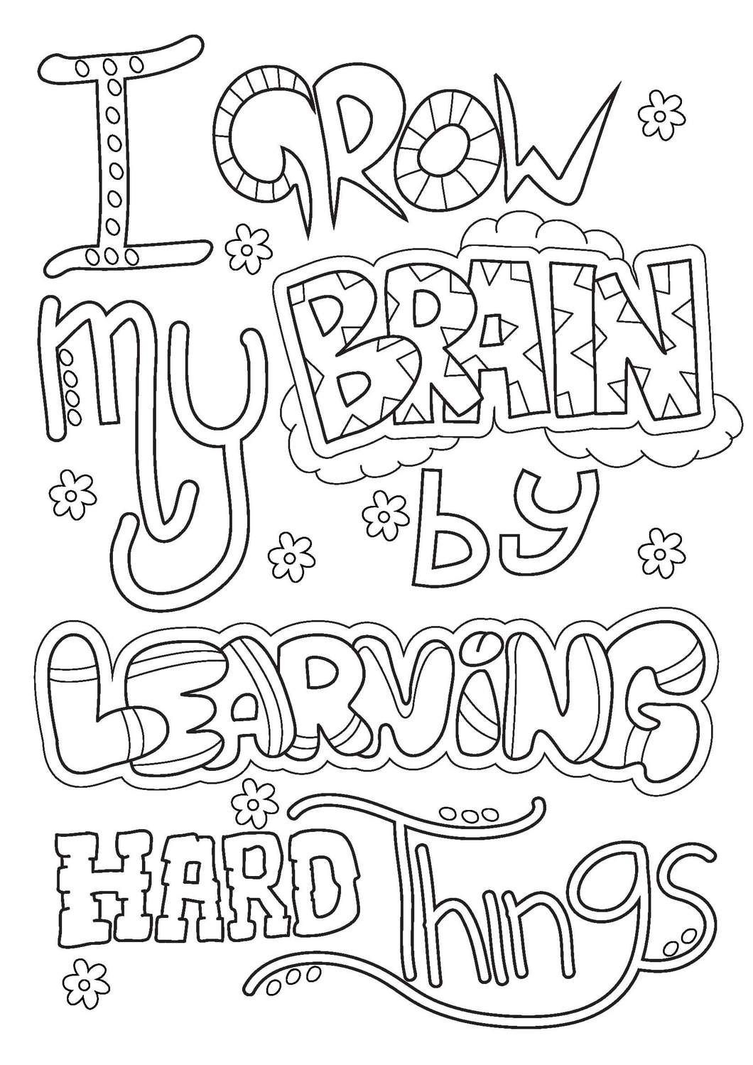 Trend Growth Mindset Coloring Pages Printables Kit