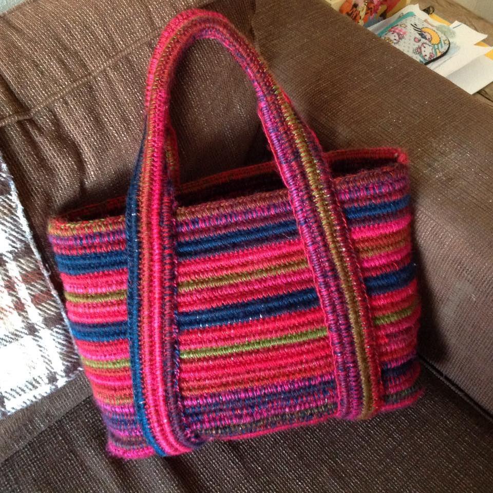 Nylondraad Tas Idee Hengsels Boho Chic Pinterest Knitted Bags