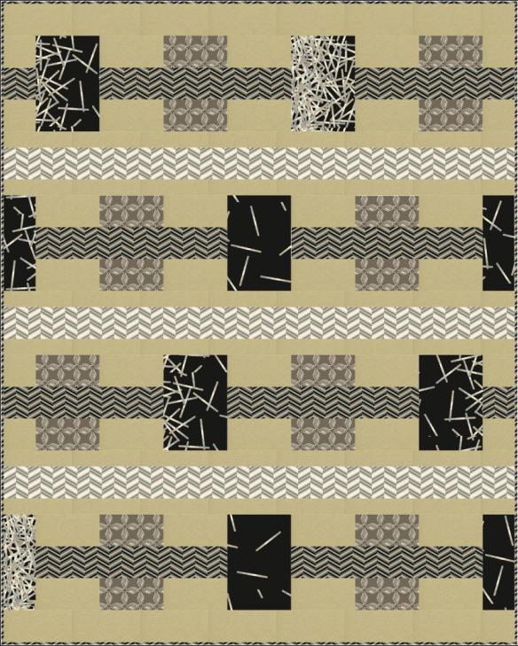 Modern Gem quilt pattern by Vanilla Latte Quilts   Simple Quilts ... : vanilla latte quilts - Adamdwight.com