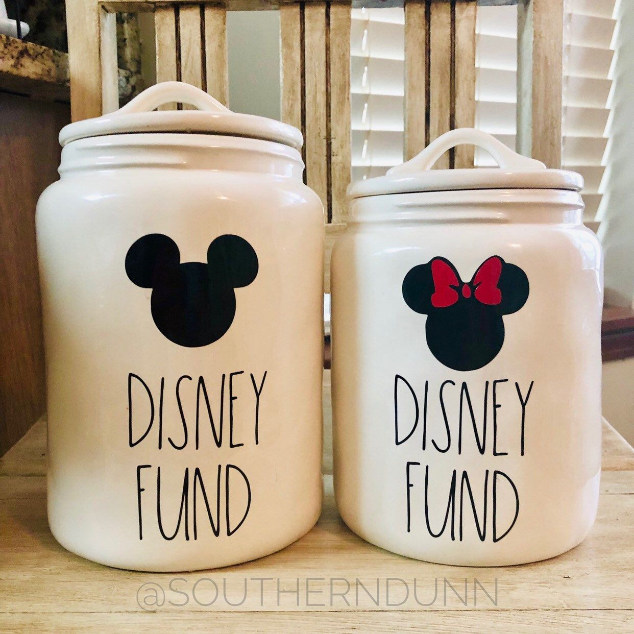Rae Dunn Inspired Disney Fund Decal, Disney Fund Decal, Mickey Disney Fund, Minnie Disney Fund