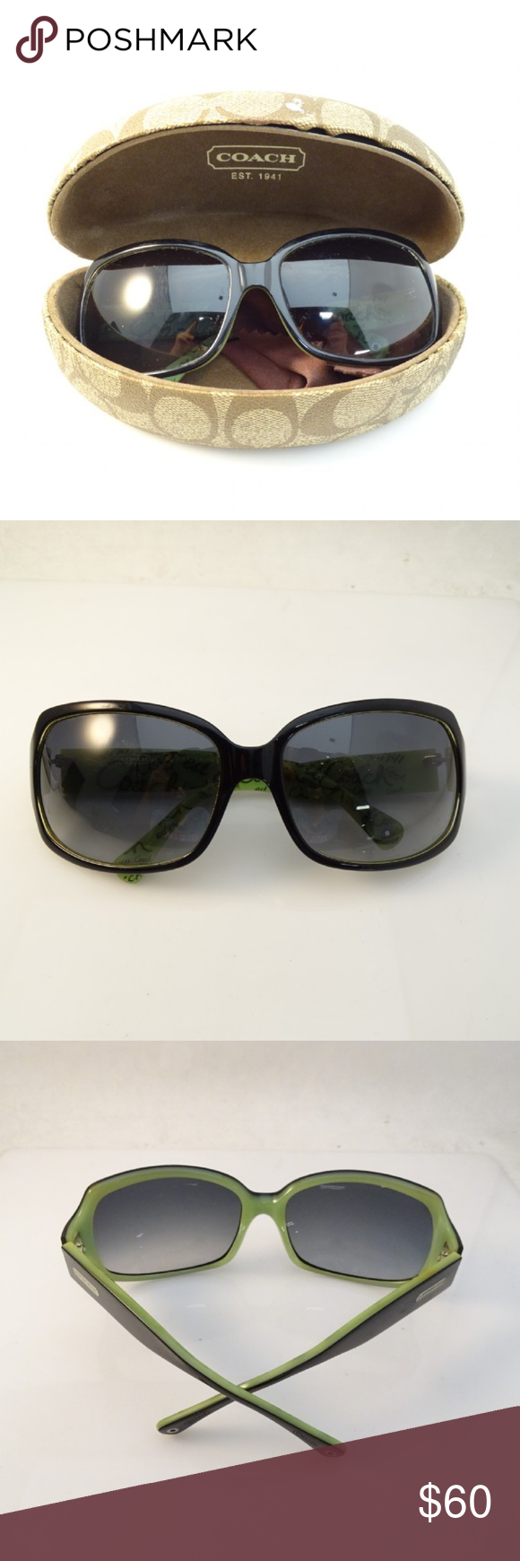 4df23cdfb8a8 Coach Ginger sunglasses with case and cloth Coach Ginger sunglasses with  case and cloth black/