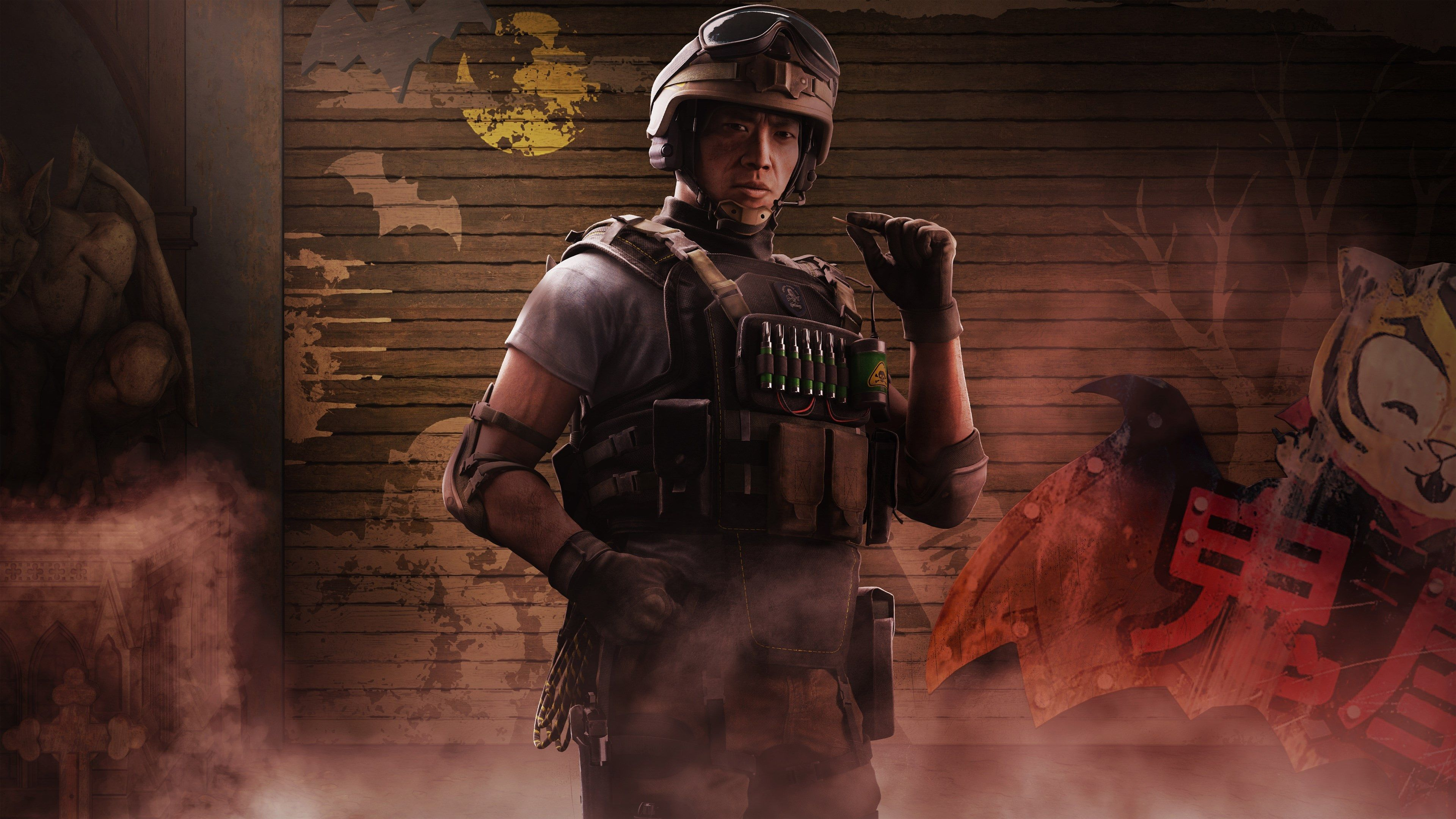 3840x2160 Lesion Operator 4k Background Hd Desktop In 2020 Tom Clancy S Rainbow Six Ps Plus Gaming Wallpapers