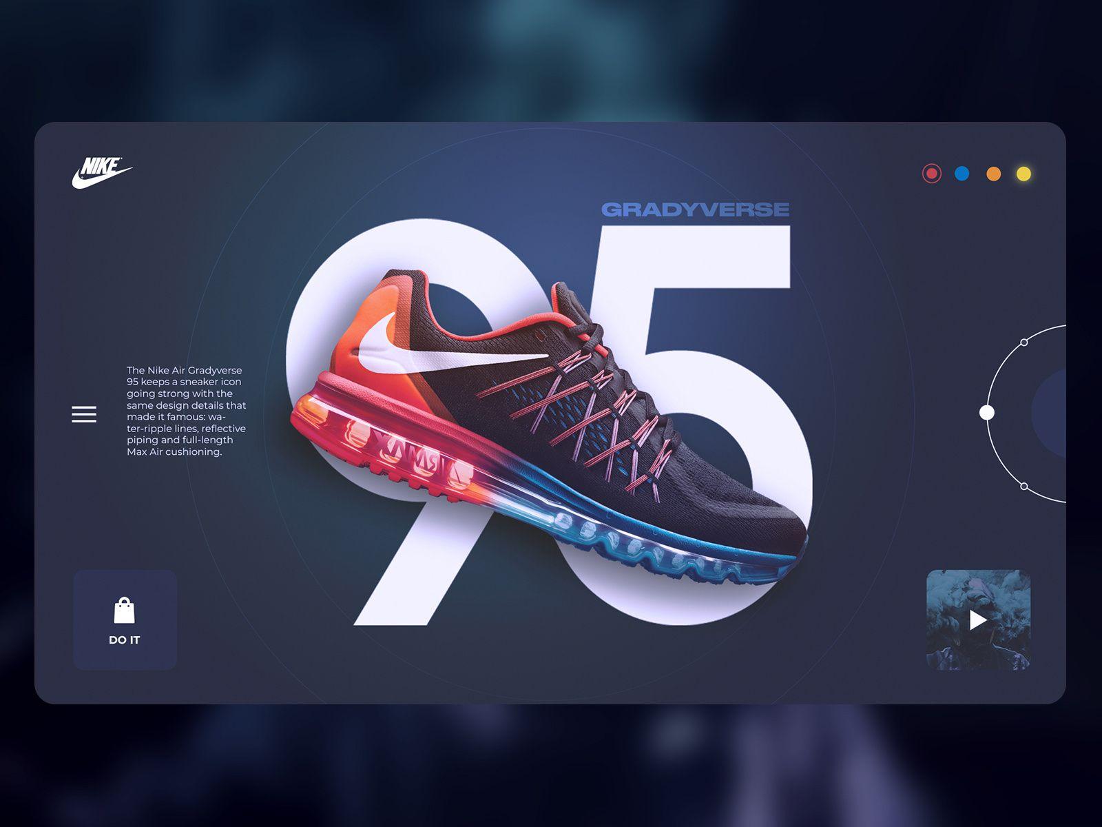 mosquito balcón sexo  Nike Air Max Gradyverse website concept in 2020   Web design tips, Banner  design layout, Web layout design