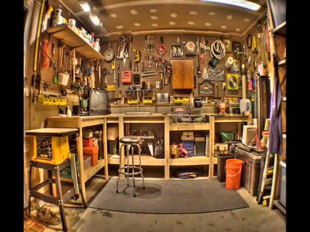 Best Garage Workshop Design Ideas Garage Wall Decorating Ideas 41228502 Custom Garage Accessories How To Chang Home Workshop Garage Workshop Man Cave Garage