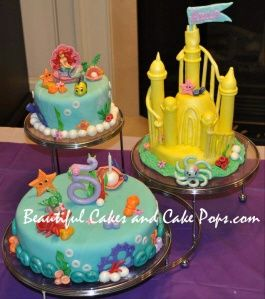 Ariel Little Mermaid Cake Aubreys Birthday Pinterest
