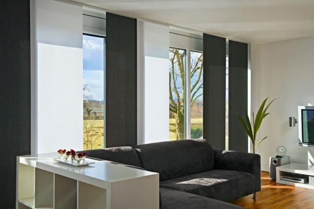 Für jedes Fenster die passende Schiebegardine | Vorhang Wohnzimmer ...