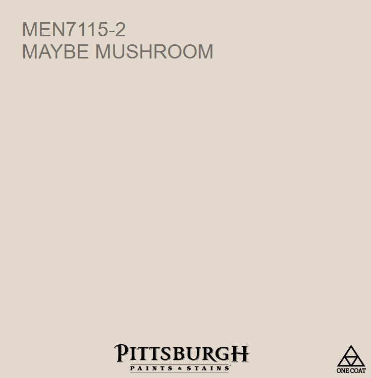 mushroom paint colorMaybe Mushroom MEN71152 a Brown hue from the Pittsburgh Paints