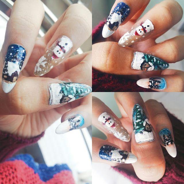 Nail Art Snow Nail Art Nails Pinterest