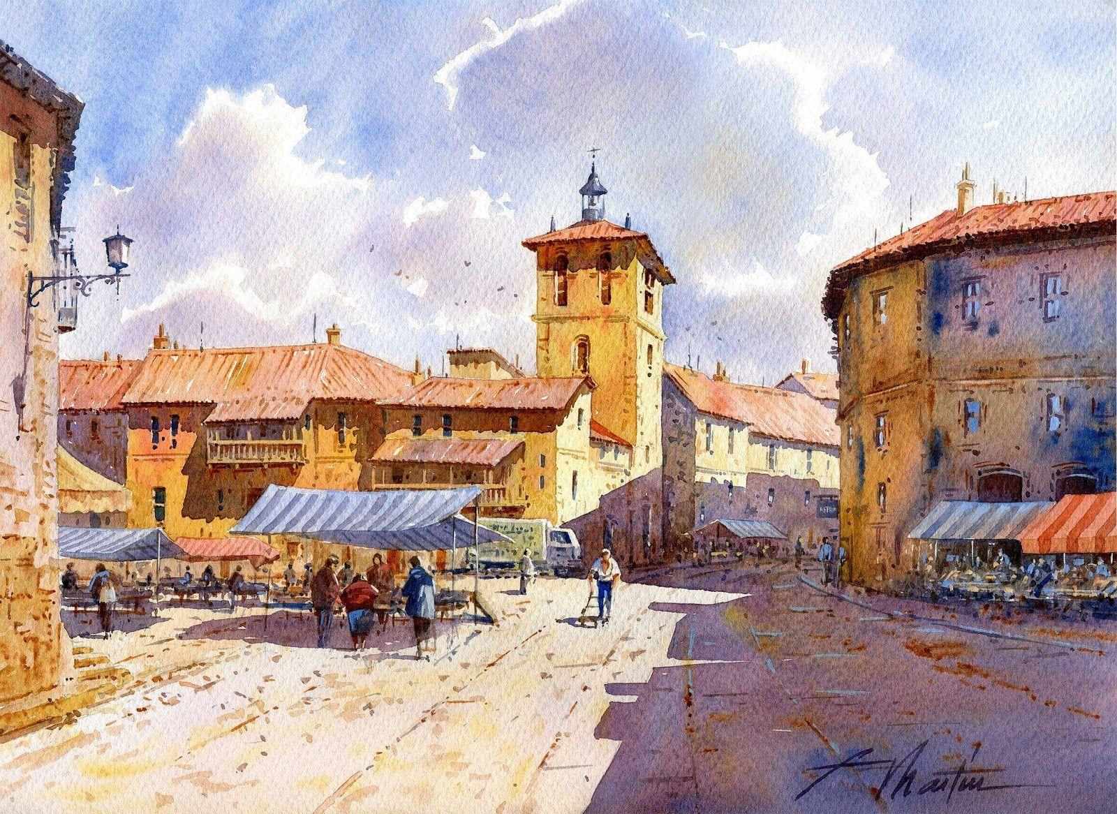Watercolor artist magazine customer service - Arts Artist Faustino Martin Gonzalez