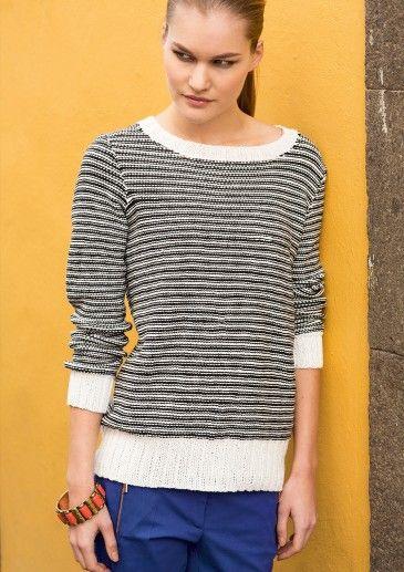 28982ab0 Stripete genser | sandnes garn oppskrifter | Genser, Oppskrifter og ...