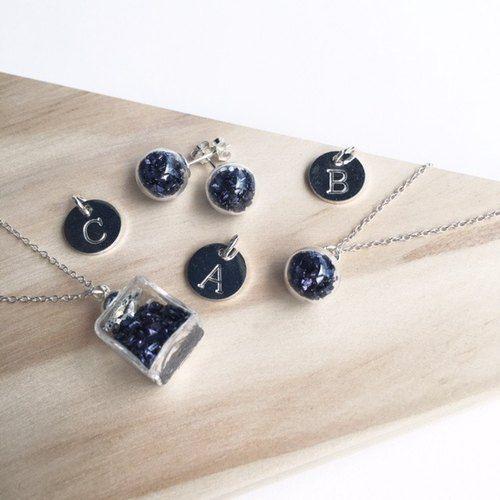 [925純銀] 歌德紫琉璃球礦石項鍊