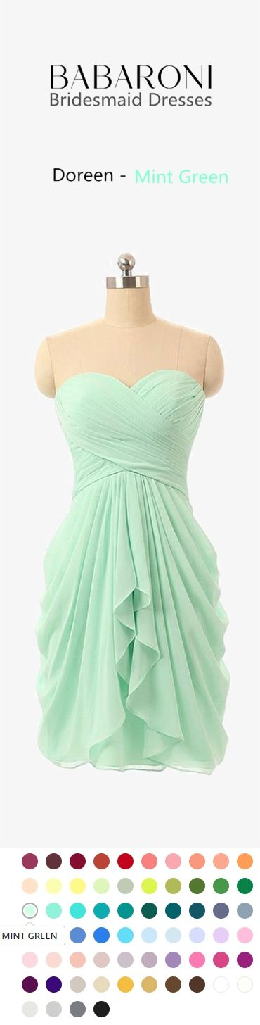 9f573baa48d Doreen is a fun yet flirty knee length gown. Its lovely romantic sweetheart  strapless neckline is simply beautiful. Get a perfect fit every time with  its ...