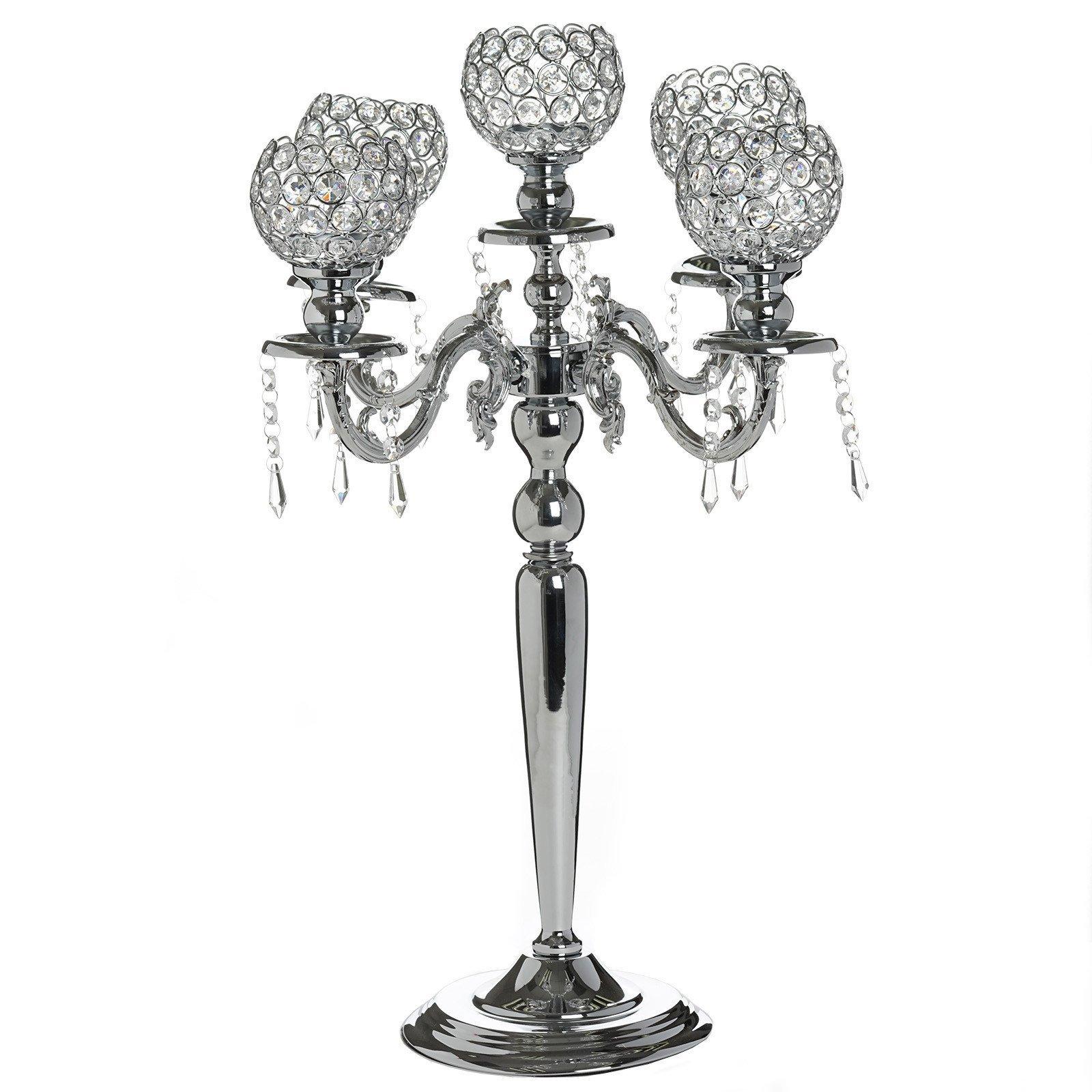Candelabra Chandelier Crystal Votive Candle Holder Wedding Centerpiece 25 Tall Silver Crystal Votive Candle Holders Crystal Candle Holder Chandelier Candle Holder