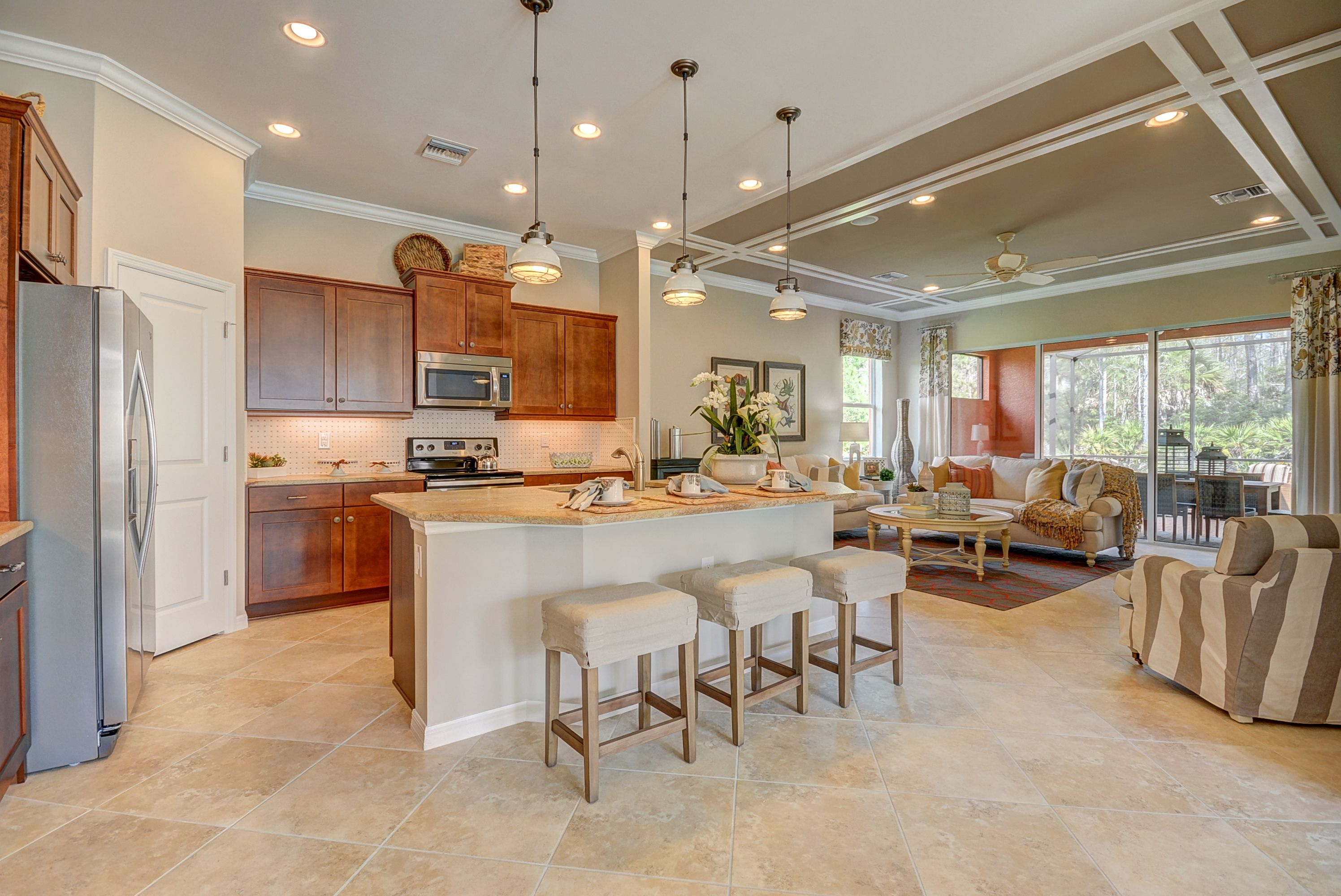Beautiful Open Concept Floor Plan At Pelican Preserve Beach House Furniture New Home Communities Lennar