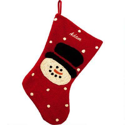 Personalized Appliquéd Snowman Stocking #snowman #stocking #Christmas #personalized $21.99