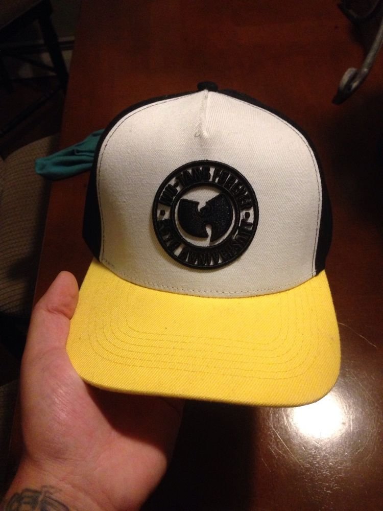cb5fe0d6 WU-TANG FOREVER 25th ANNIVERSARY SNAPBACK White/yellow/black NEW #fashion # clothing #shoes #accessories #mensaccessories #hats (ebay link)