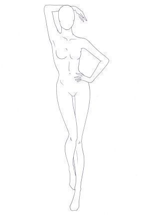 Photo of Figure-Template-23-Outline, # FigureTemplate23Outline #mobeldrawing, #FigureTemplate …