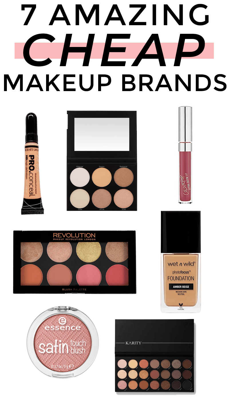 7 Cheap Makeup Brands That Are Actually Great Quality Meg O On The Go Cheap Makeup Brands Affordable Makeup Brands Makeup Brands