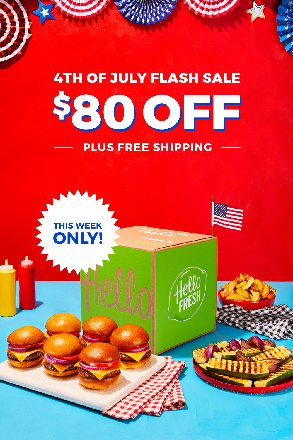 This 4th of July, have the summers best dishes come to you with 8 free meals plus free shipping! images