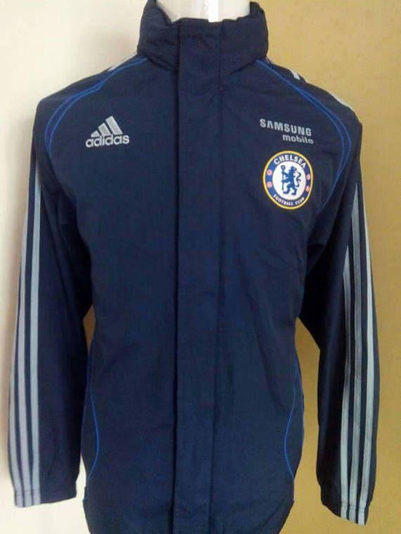 d75db379c Vintage Chelsea Football Club Windbreaker Jacket Full Zipper ...