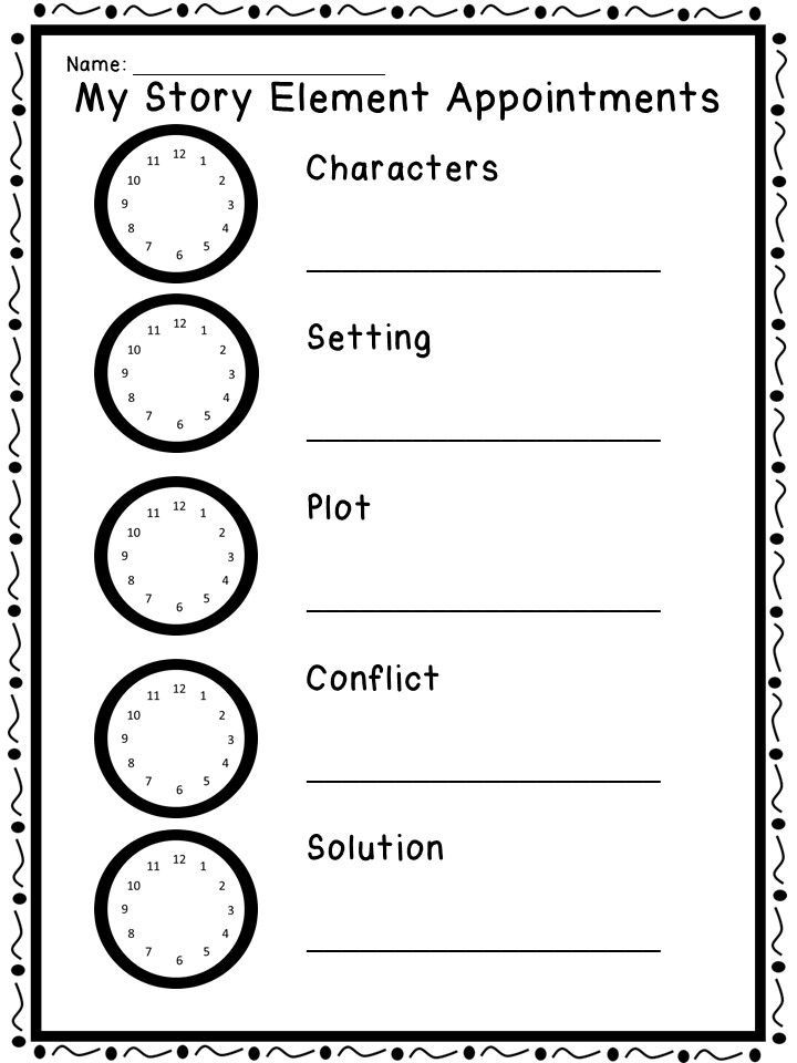 Story Element Fun using a student dialogue appointment