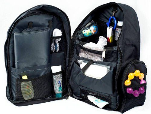 Okkatots Travel Baby Depot Backpack Bag - Black - why do they come ...