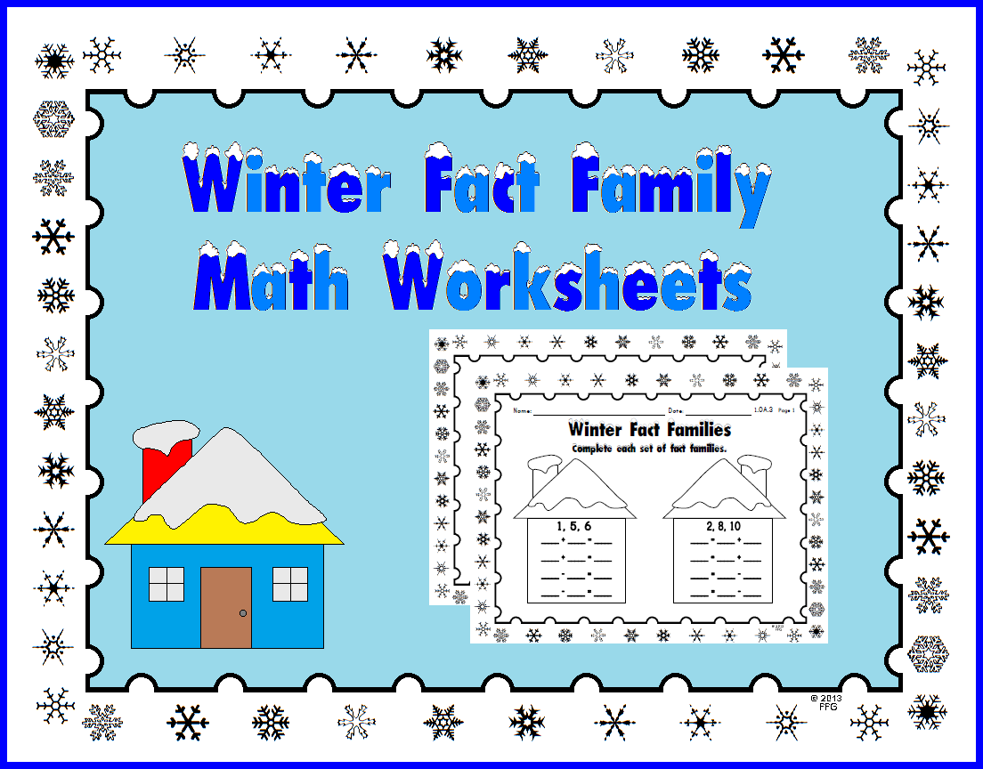 Fact Families All Things Educational Fact Families Math