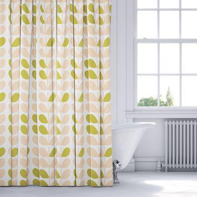 Langley Street San Lorenzo Shower Curtain Color: Pink/Sage