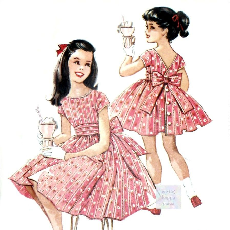 The Perfect Little Girl Dress 1950s Pattern. Party Dress w Full ...