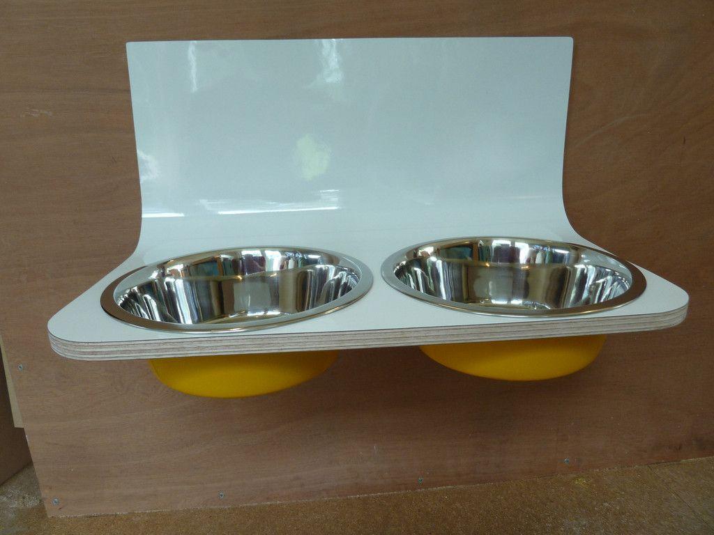 wall mounted dog bowl